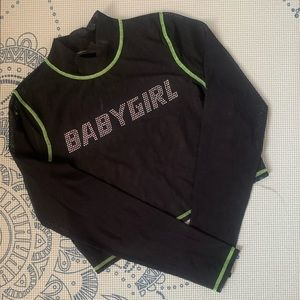 Urban Outfitters 'Baby Girl' Mesh Top